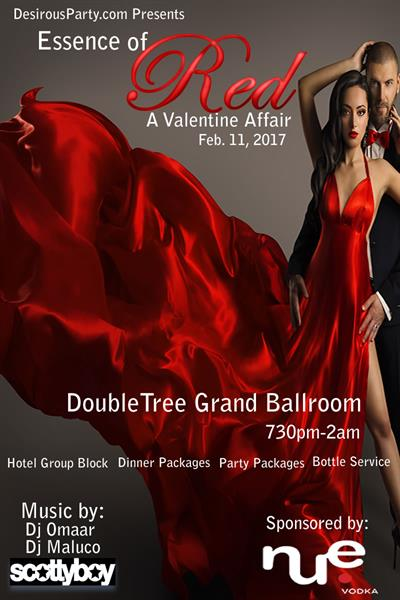 Sat, Feb 11, 2017 Essence of Red- A Valentine Affair at DoubleTree Hobby Airport Hotel Houston Texas