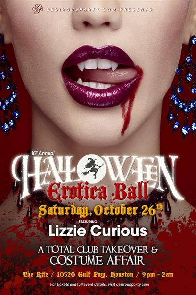 Sat, Oct 26, 2019 Houston's Halloween Erotica Ball 2019 at Ritz Ultra Lounge Public NightClub Houston Texas