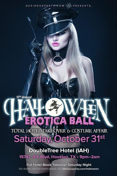 Sat, Oct 31, 2020 Halloween Erotica Ball- 17th annual   at Doubletree Hotel at IAH Airport Hotel Houston Texas