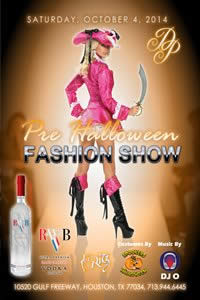 Sat, Oct 4, 2014 6th annual Pre Halloween Fashion Show at The Ritz Plaza- VIP Lounge Public NightClub Houston Texas