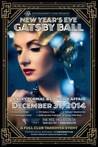 Wed, Dec 31, 2014 New Years Eve Gatsby Ball NYE - Full Club Takeover at The Ritz Plaza- VIP Lounge Public NightClub Houston Texas