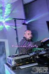 Dj O in the grand ballroom for naughty school girl weekend in Houston, Texas.
