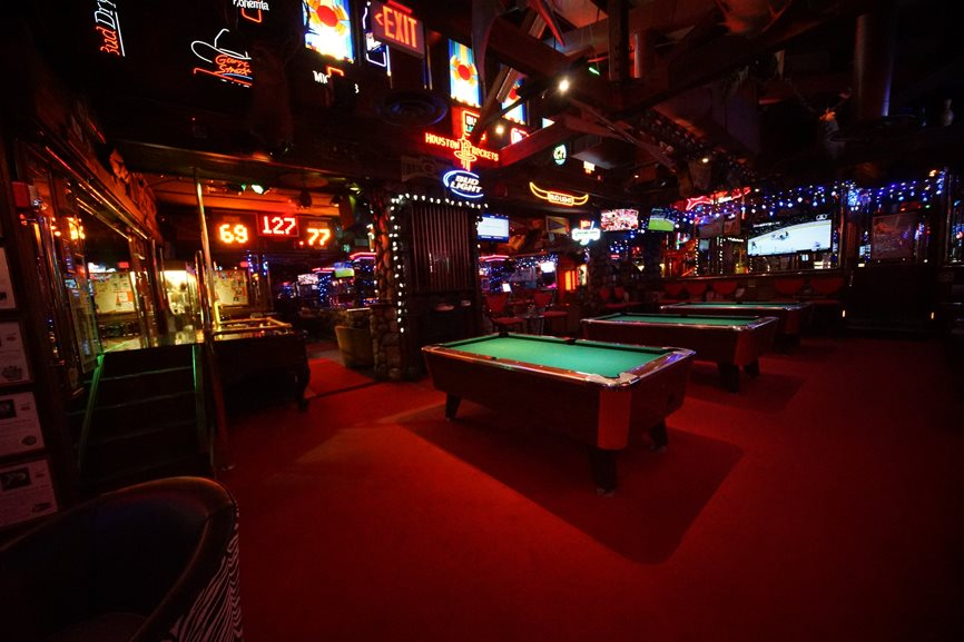 Pool Tables in the Sports Bar